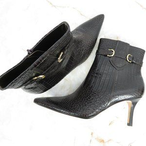 Ann Taylor Embossed Ankle Booties